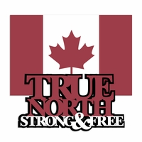 Canada: True North Laser Die Cut