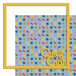 Candy Crush 12 x 12 Overlay Quick Page Laser Die Cut