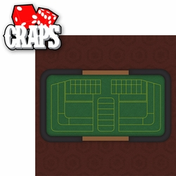 Casino: Craps 2 Piece Laser Die Cut Kit
