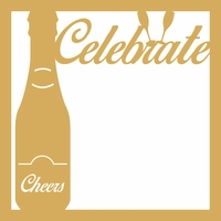Celebrate Cheers 12 x 12 Overlay Laser Die Cut