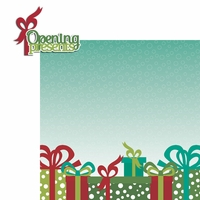 Celebrate Christmas: Opening presents 2 Piece Laser Die Cut Kit