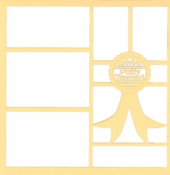 2SYT Certified Potty Trained 12 x 12 Overlay Laser Die Cut