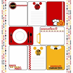 1SYT Character Dining: Journaling Cards 12 x 12 Paper