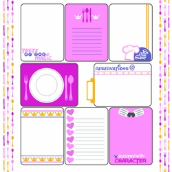 1SYT Character Dining: Princess Journaling Cards 12 x 12 Paper