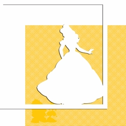 Characters: Belle 12 x 12 Overlay Quick Page Laser Die Cut