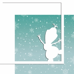 Characters: Snowman 12 x 12 Overlay Quick Page Laser Die Cut