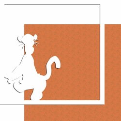 Characters: Tigger 12 x 12 Overlay Quick Page Laser Die Cut