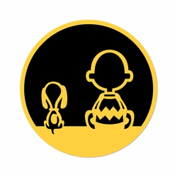 Charlie Brown: Charlie and Snoopy Laser Die Cut