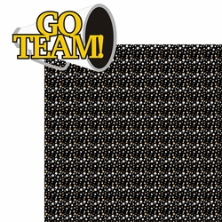 2SYT Cheer: Go Team! 2 piece Laser Die Cut