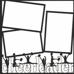 1SYT Cheerleading Outline 12 x 12 Overlay Laser Die Cut