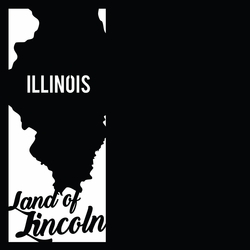 Chicago: Land Of Lincoln 12 x 12 Overlay Laser Die Cut