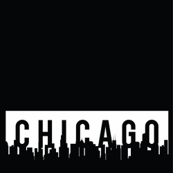 Chicago: Skyline 12 x 12 Overlay Laser Die Cut