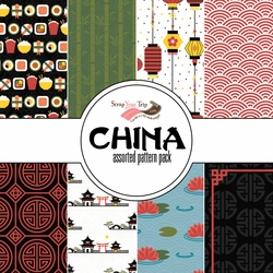 China: Assorted 12 x 12 Paper Pack