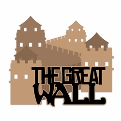China: Great Wall  Laser Die Cut