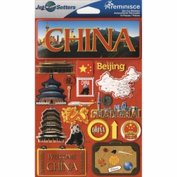 China Jet Setters Dimensional Stickers