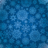 Christmas Fun: Blue Snowflakes 12 x 12 Paper