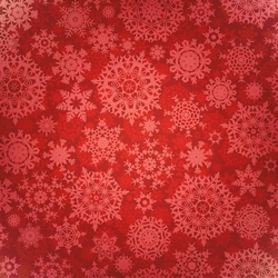 Christmas Fun: Red Snowflakes 12 x 12 Paper