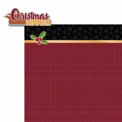 Christmas Traditions: Christmas Dinner 2 Piece Laser Die Cut Kit