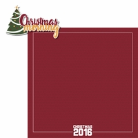 Christmas Traditions: Christmas Morning 2 Piece Laser Die Cut Kit