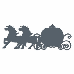Cinderella: Carriage and horse Laser Die Cut