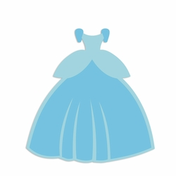Cinderella: Dress Laser Die Cut