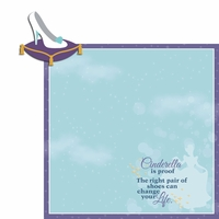 Cinderella: Right Pair of Shoes 2 Piece Laser Die Cut Kit