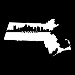 Cities: Boston 12 x 12 Overlay Laser Die Cut