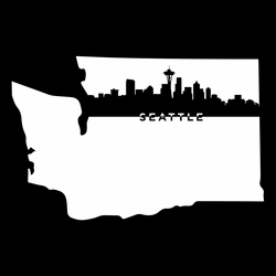 Cities: Seattle 12 x 12 Overlay Laser Die Cut
