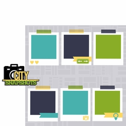 City: Snapshots 2 Piece Laser Die Cut Kit