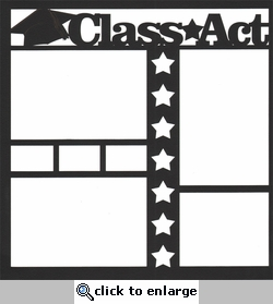 Class Act 12 x 12 Overlay Laser Die Cut