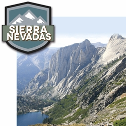 2SYT Climb Every Mountain: Sierra Nevadas 2 Piece Laser Die Cut Kit
