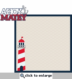 Coastal: Ahoy Matey 2 Piece Laser Die Cut Kit