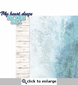 Coastal: My Heart Sleeps 2 Piece Laser Die Cut Kit
