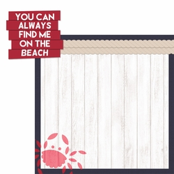 Coastal: On The Beach 2 Piece Laser Die Cut Kit