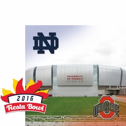 1SYT College Bowl: Fiesta Bowl 2 Piece Laser Die Cut Kit