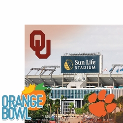 1SYT College Bowl: Orange Bowl 2 Piece Laser Die Cut Kit