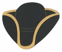 Colonial Tri-Corner Hat Laser Die Cut-Not an Actual Hat