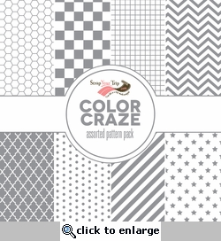 Color Craze Assorted Pattern Pack - Grey