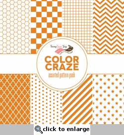 Color Craze Assorted Pattern Pack - Orange