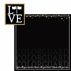 Colorguard: Love 2 Piece Laser Die Cut Kit