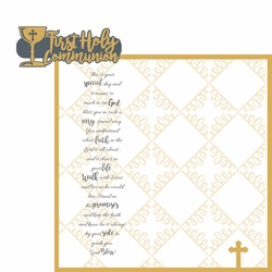 Confirmation: Communion 2 Piece Laser Die Cut Kit