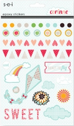 1SYT Corinne: Epoxy Sticker Sheet