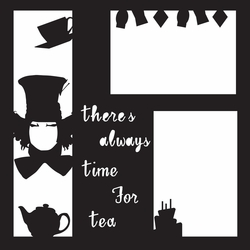 Costumes: Mad Hatter 12 x 12 Overlay Laser Die Cut