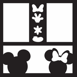 Costumes: Mickey and Minnie 12 x 12 Overlay Laser Die Cut