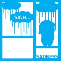 Costumes: Sadness 12 x 12 Overlay Laser Die Cut