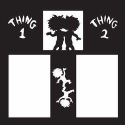 Costumes: Thing 1 and 2 12 x 12 Overlay Laser Die Cut