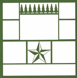 1SYT Country Star 12 x 12 Overlay Laser Die Cut