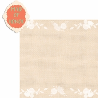 Country Wedding: Maid of Honor 2 Piece Laser Die Cut Kit