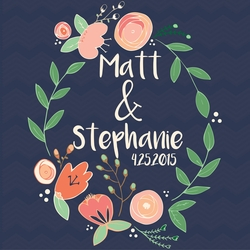 Country Wedding: Names Custom 12 x 12 Paper