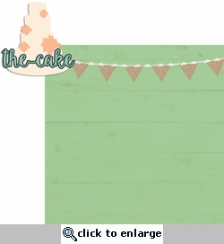 Country Wedding: The Cake 2 Piece Laser Die Cut Kit